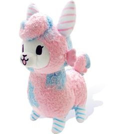 The cutest cotton candy llama ever!