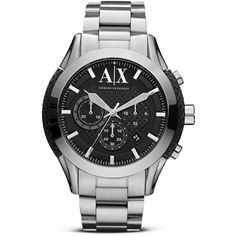 ax armani exchange men s chronograph watch available at nordstrom our watches range by ax brings you this stainless steel bracelet watch black textured centre links this men s watch is detailed a date window and