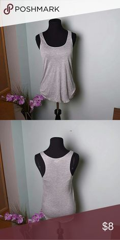 Adorable Grey Speckled Tank Top In great condition! Looks brand new! Super cute and soft! PCJ Tops Tank Tops