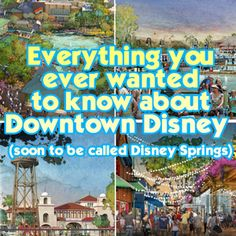 This is a big one. A complete guide to Downtown Disney/Disney Springs info on every restaurant entertainment option shop and nearby resorts - Travel Orlando - Ideas of Travel Orlando Disney Vacation Planning, Disney World Planning, Walt Disney World Vacations, Disneyland Trip, Family Vacations, Vacation Ideas, Orlando Travel, Orlando Vacation, Florida Vacation