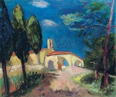 The Chapel of Sainte-Ann in Saint-Tropez by Charles Camoin
