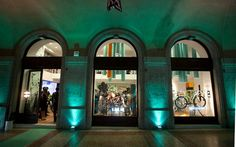 Officina Edoardo Bianchi - This brand new special Bianchi store, the first of it's kind, just opened in Bergamo.