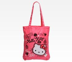 Hello Kitty Cotton Tote Bag: Squiggle
