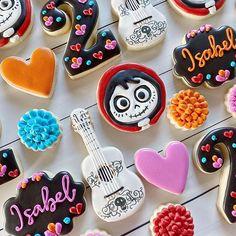 "Sometimes cookies make me ""Un Poco Loco"" Sometimes los amo mucho 😍😍😍 *  *  *  *  #fairytalecookieco #madewithlove #handmade #customcookies #decoratedcookies #fancy #cookieart #cookiedecorating #edibleart #sugarcookies #royalicing #cookies  #pastrylife #cookiesofinstagram #foodart #baking #baker #cookiecutters #cookiedesign #talentedcookiers #smallbusiness #womeninbusiness #makersgonnamake #CiSTL #disneycookies #cococookies #coco #disney    #Regram via @www.in Royal Icing Cookies, Sugar Cookies, Cookie Crush, Disney Cookies, Cut Out Cookies, Custom Cookies, Cookie Designs, Edible Art, Cookie Decorating"