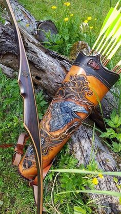 #archery Traditional Bow, Traditional Archery, Hunting Girls, Bow Hunting, Mathews Archery, Leather Quiver, Sword Drawing, Blacksmithing Knives, Recurve Bows