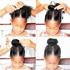 And a bun plus braids might be even better. | 17 Lazy-Parent Hairstyle Ideas Kids Will Love