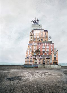 """German graphic designer Matthias Jung first constructed """"surreal homes"""" as a boy, using scissors and glue in his father's photo lab."""