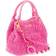 Miu Miu Shoulder Bag ($1,450) ❤ liked on Polyvore