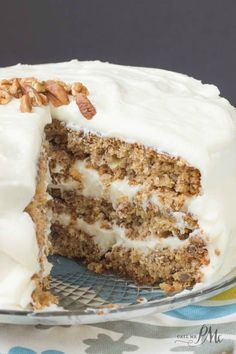 Old Fashioned Banana Layer Cake recipe with Cream Cheese Frosting, gorgeous cake and so delicious! #PAMCookingSpray #ad