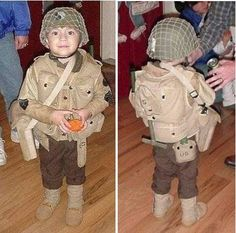 An Army costume for kids
