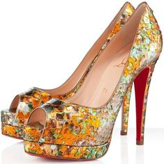 Altadama 140mm Python Pumps Multicolor Red Sole Shoes Finest Materials French In stock Christian Louboutin US Sale