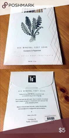 [NEW] Formulary55 foot soak Eucalyptus & mint Anthropologie Other