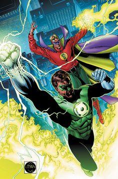 Hal Jordan and Alan Scott - Green Lanterns #green #lantern http://www.ryanmercer.com