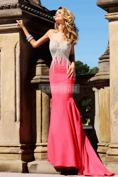 Natural Waist Brush Train Satin Trumpet Sweetheart Prom Dress site COBBPROM