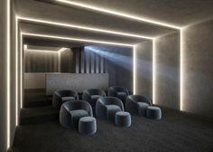 - Home Theater Home Theater Room Design, Home Theater Lighting, Home Theater Decor, At Home Movie Theater, Home Theater Rooms, Home Theater Seating, Cinema Room Small, Home Cinema Room, Modern Villa Design