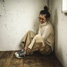 【モデル私服】岸本セシルの「この冬まだまだ着たい」ニット、コート、ワイドパンツ5着 | mina | TOKYO CAWAII MEDIA [トウキョウ カワイイ メディア]