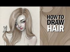 """I'm going to try my best to explain how to draw hair in this tutorial. Also, huge thank you to Skillshare for sponsoring and supporting me! (Use code """"HAPPYD..."""