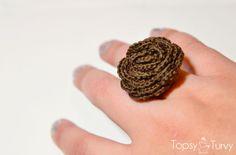 thread crochet rose ring by imtopsyturvy.com