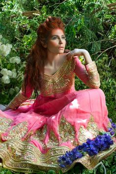 Mina Hasan is one of the emerging designers in the industry. See Mina Hasan bridal wear 2014 for women here. It was released by the designer recently. Pakistani Outfits, Indian Outfits, Pakistani Clothing, Asian Bridal, Desi Clothes, Indian Attire, Indian Wear, Special Dresses, Asian Fashion