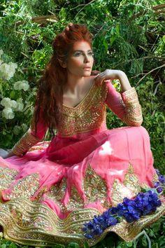 Bridal Anarkali by Mina Hasan
