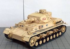 WWII Pz.Kpfw. IV Ausf. D Medium Tank Ver.7 Free Paper Model Download
