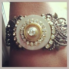 Antique button cuff bracelet. D. Wallace Designs