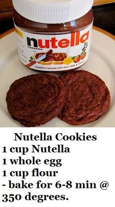 Nutella Not Just For Straight Out of the ContainerThe Universal Dessert Ingredient UnMotivating Sweet Recipes, Snack Recipes, Dessert Recipes, Cooking Recipes, Snacks, Nutella Cookies Easy, Nutella Bread, Plats Healthy, Delicious Desserts