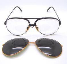 65822ca8f7f Carrera Porsche Design 5657 Aviator Sunglasses With Green Clear Lenses