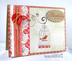 Stamps used: Birdie on a Swing, Fanciful Flourishes, and Perfect Phrases – Designed by Kendra Wietstock
