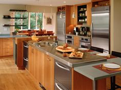 Amazing kitchen! I love the double fridge AND the double ovens under the counter!!  Family-Friendly Atmosphere - Top 10 Professional-Grade Kitchens on HGTV