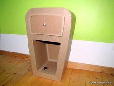 Chevet en carton Hatika - Patron pdf de l'Atelier Chez Soi - http://www.atelierchezsoi.fr/product/e-patron-pdf-meuble-en-carton-chevet-hatika