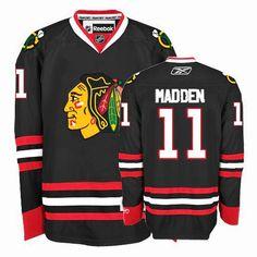 Chicago Blackhawks John Madden 11 Black Authentic Jersey Sale