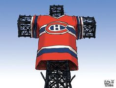 "In Montreal, Hockey is the Official Religion. As a Canuck, this is the wrong ""C"", but the right idea! Montreal Canadiens, Of Montreal, Montreal Hockey, Tu Me Manques, O Canada, Los Angeles Kings, Ice Hockey, Ottawa, Good Old"