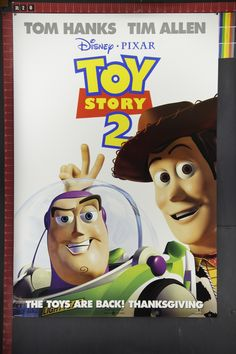 Movie Posters Original | Toy Story 2 original animation movie poster one sheet double sided ...