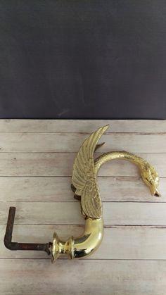 Brass Swan Faucet/ Vintage Brass Swan by VintageBrassRevival