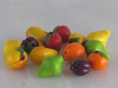 Fruit Orchard - 14 Assorted Polymer Clay Fruit Beads. $8.00, via Etsy.