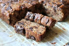 This Chocolate Chunk Banana Bread is Paleo-friendly and uses no sugar or sweetener except for bananas!