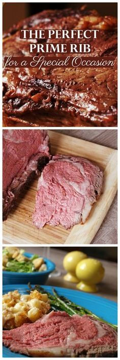 Now you& cooking! Tis the season to not be thrifty, fa-la-la la-laaa-la-la-la-la. Before you know it, Christmas will be here. I like to use my prime rib recipe on Christmas day. However, you can eat this delicious dish any time of the year. Meat Recipes For Dinner, Rib Recipes, Roast Recipes, Cooking Recipes, Prime Rib Dinner, Prime Rib Roast, Roast Beef, Prime Rib Marinade, Party