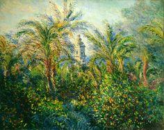 Claude Monet - Garden in Bordighera, Impression of Morning, 1884.