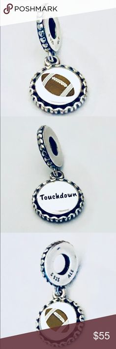 a8caddb88 Authentic Pandora Football Dangle Charm Comes With it's Pandora Tag and  Box. No Trading.