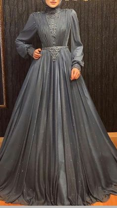 Beautiful Casual Dresses, Stunning Dresses, Unique Dresses, Pretty Dresses, Muslim Wedding Dresses, Indian Gowns Dresses, Evening Dresses, Hijab Dress Party, Hijab Style Dress