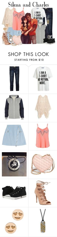 """""""Silena and Charles // PJO/HoO"""" by glitterbug152 ❤ liked on Polyvore featuring Old Navy, Moschino, River Island, MANGO, Karl Lagerfeld, maurices, Rebecca Minkoff, Converse, Office and GoodWood"""