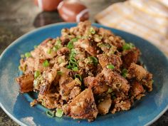 Brunch with doughnuts and chicken enchilada. Spiced Mustard Hash Browns recipe from Bobby Flay via Food Network Bobby Flay Recipes, Chef Recipes, Potato Recipes, Brunch Recipes, Food Network Recipes, Breakfast Recipes, Cooking Recipes, Brunch Ideas, Wing Recipes