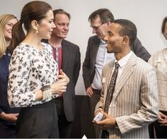 Crown Princess Mary of Denmark participate at the Maternity Foundation's 10th anniversary on April 22, 2015 in Copenhagen