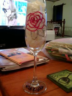 Rose on glass