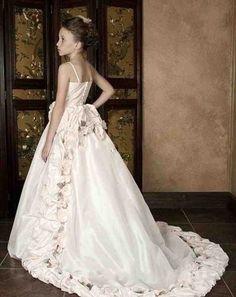 Ivory And Burgundy Flower Girl Dresses