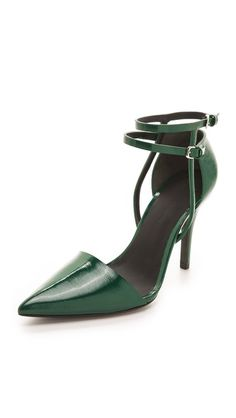 SHOE OF THE YEAR - can't handle how stunning and perfect these are.. Alexander Wang Emma Ankle Strap Pumps