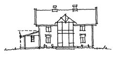 Tilbygg på gamle hus Floor Plans, Diagram, Architecture, Arquitetura, Architecture Design, Floor Plan Drawing, House Floor Plans