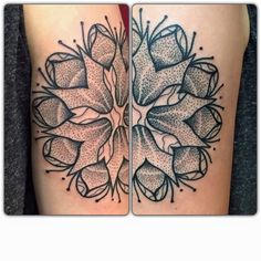 by Karl Mandala Lines Dotwork Dotworktattoo Kreuzstich Tattoo Berlin Kreuzberg Flower Mandalaflower Mandalatattoo Artist Instagram Karlinger1211