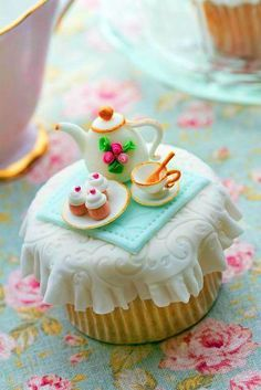teapot cup cakes - Google Search